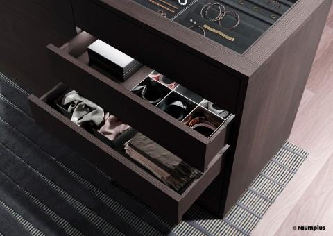 Accessoires in Schubladen